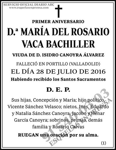 María del Rosario Vaca Bachiller